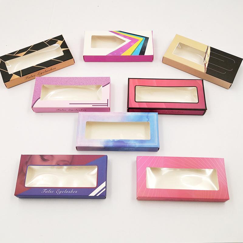 DIY Rectangle 25mm False Eyelashes Packing Box Eyelash Blank Package Fake Eyelash Empty Paper Box With Tray Lashes Cosmetic Packaging Boxes