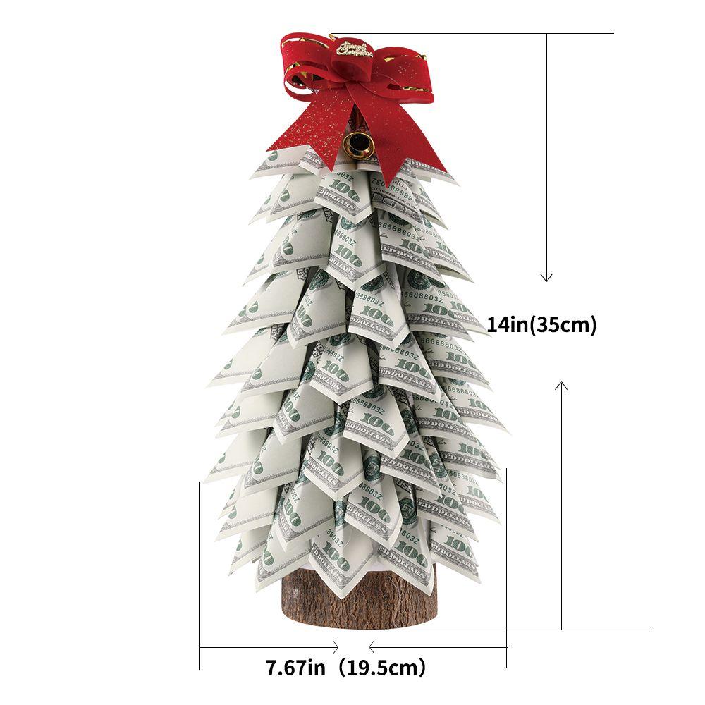 اليدوية توبياري الخضراء دولار المال شجرة للديكور المنزل ومفاجأة هدية عيد الميلاد أو الهدايا التذكارية للرجال والنساء