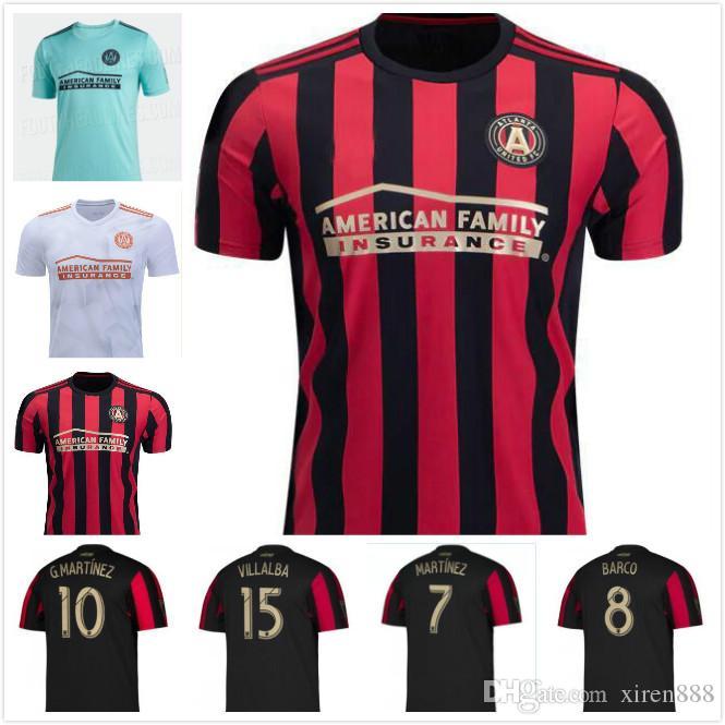 19 20 Tayland kaliteli Atlanta forma GARZA JONES Major League Soccer, VILLALBA McCann 2019 2020 futbol forması üniforma united