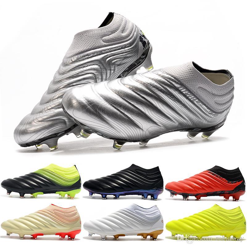 새로운 도착 코파 20 + FG 남성 축구 신발 (19 개) 블랙 머큐리얼 슈퍼 플라이 축구 부츠 남자 야외 스포츠 문디알 축구화 신발 EF8309