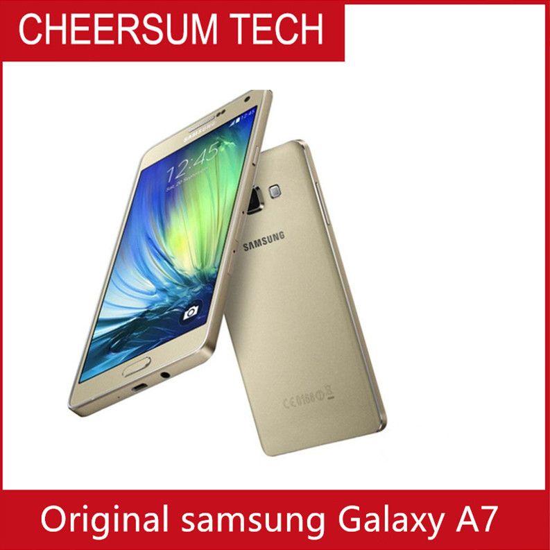 Восстановленный оригинальный Samsung Galaxy A7 A7000 Dual SIM разблокированный телефон 5.5 дюймовый Octa Core 2GB RAM 16GB ROM 13MP камера 4G LTE мобильный телефон