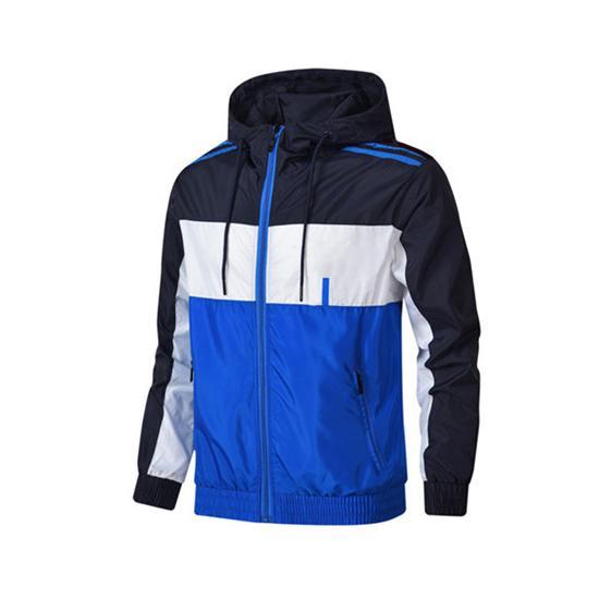 Erkek Yeni Marka WINDBREAKER Patchwork Spor Marka İlkbahar Sonbahar Coats Koşu Ceket Drop Shipping CE98244 için Toptan Tasarımcı ceketler