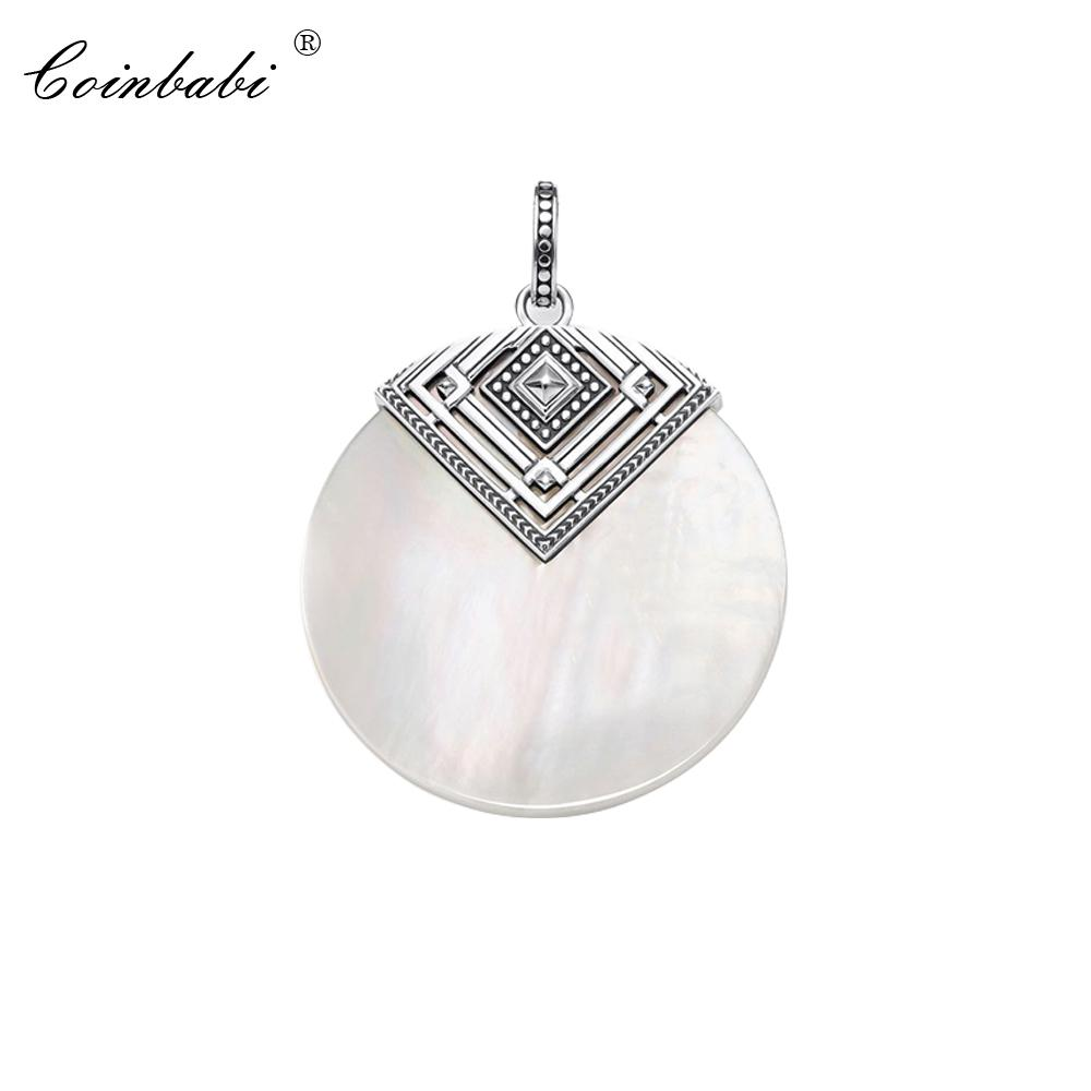 Pendant Africa Shell Ornament For Women Fashion Vintage 925 Sterling Silver Ethnic Gift Thomas Soul Jewelry Fit Ts Necklace