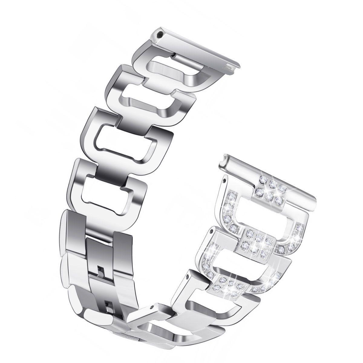 22mm Metal Kayış Bantları için Samsung Galaxy İzle 46mm R800 Bilezik Samsung İzle Rhinestone Paslanmaz Çelik Kordonlu Saati için 92002