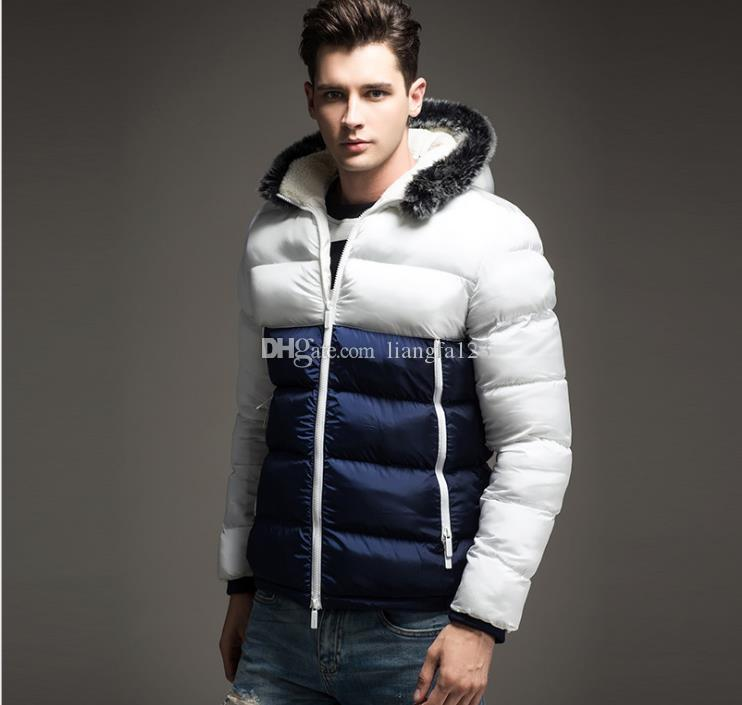 Nuevo diseñador del Mens las chaquetas de algodón Veste hombres ropa de abrigo capas de las chaquetas para hombre Hombre Azul Rojo Negro del diseñador de moda abrigos de invierno rompevientos