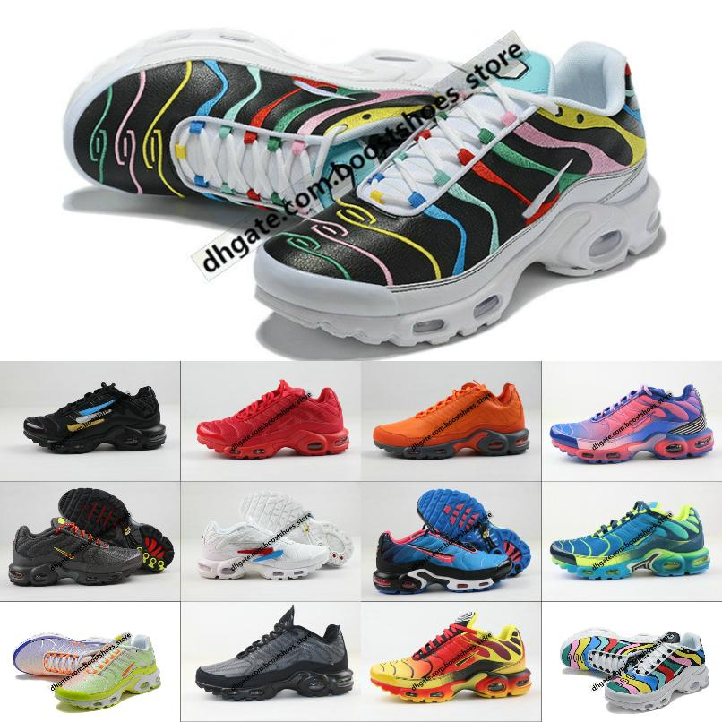 2020 New Original Tn Shoes New Designs Fashion Men Breathable Mesh Tn Plus Chaussures Requin Sports Trainers Shoes