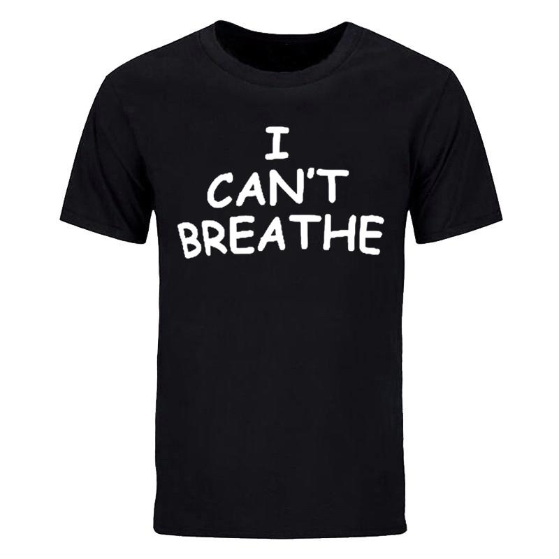 I Cant Breathe Tee shirts Men T shirt Cotton O neck for George Floyd can not breathe Blackout tops tee
