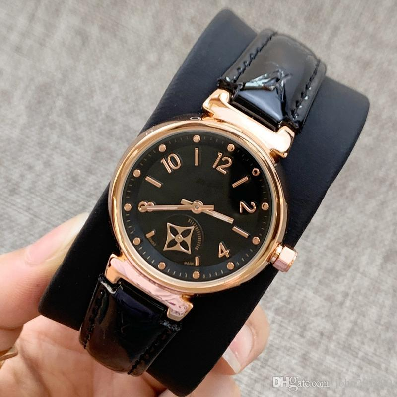 Alta qualidade dropshipping Mulheres Moda Couro Vestido Relógios Casual Relógio Feminino de relógios Lady relógio de pulso de quartzo presente senhora