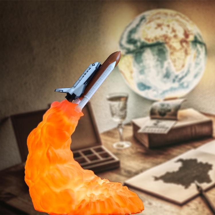 3D الطباعة مصباح الأزياء صاروخ الهدايا الالكترونية غريب المنتجات الإبداعية الديكور مصمم ليلة ضوء المفضل هدية 3 أنماط