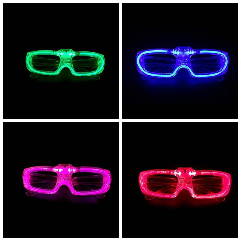 Caldo! Occhiali LED Telaio Luminescence Battery Operated pulsante interruttore 3 modalità d'approvvigionamento del freddo Festival del partito di illuminazione senza obiettivo