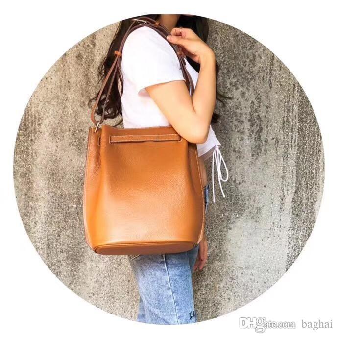 16sewn 28cm Cubo beeswa una cesta de verduras 2018 bolsa de diseñador de moda de lujo de la marca mujeres famosas bolsos de hombro de la cintura crossbody