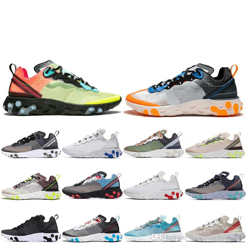 React Element 87 55 под прикрытием мужские беговые ботинки для женщин дизайнерские кроссовки спортивные мужские тренер обувь легкая кость королевский оттенок 36-45