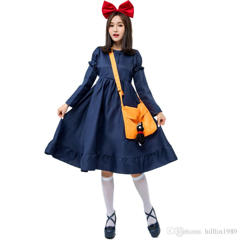 Kiki's Delivery Service Costume Teen Halloween Cosplay Cartoon Fancy Dress Women Carnival Theme Costume Japaness Anime Stage COS Uniform