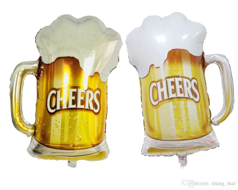 중형 맥주 알루미늄 필름 풍선 휴일 파티 바 장식 풍선 장식 풍선 맥주 축제