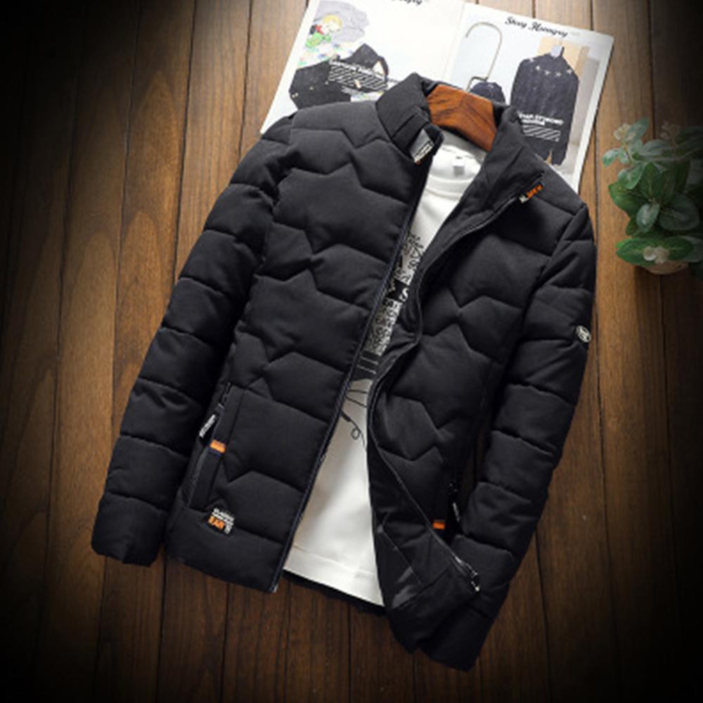 الرجال أسفل ستر الرجال الخريف الشتاء سترة الأزياء الاتجاه عارضة سميكة الدافئة القطن مبطن الملابس سليم البيسبول معاطف الحجم