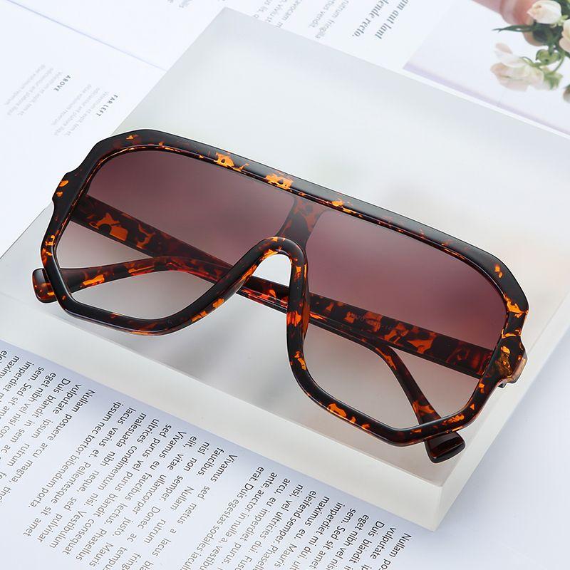 Marka Tasarımcı Büyük Kare Güneş Kadınlar Vintage Büyük Boy Güneş Gözlükleri Gözlükler Moda Kadın Gözlük UV400 óculos 9030