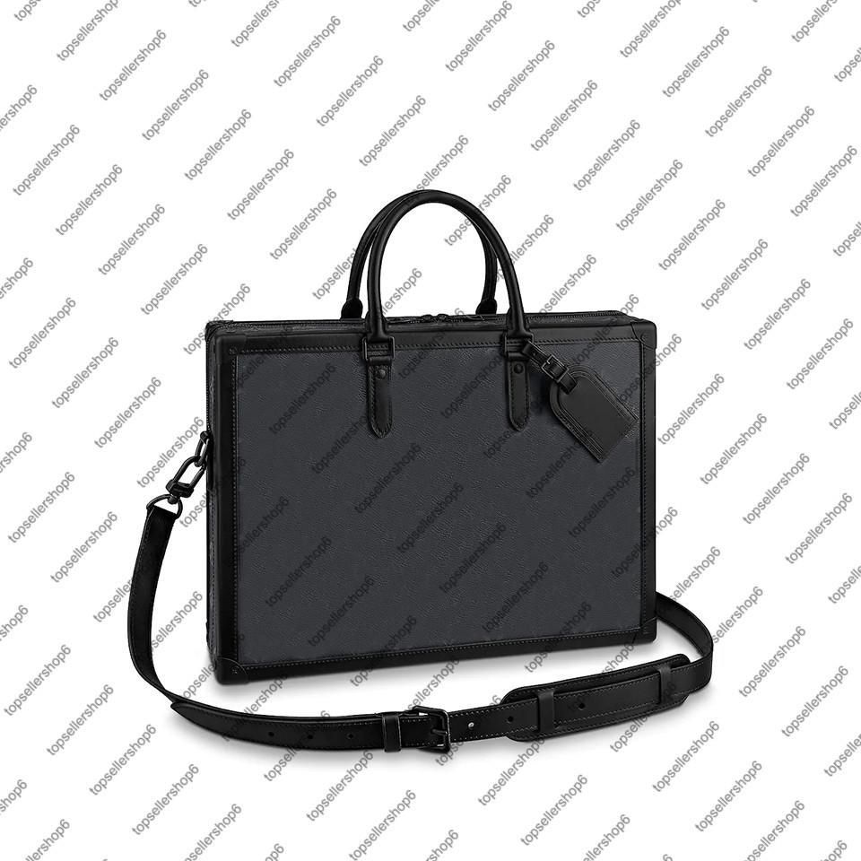 핸드백 지갑 트렁크 소프트 서류 가방 박스 메신저 M44952 양각 가방 디자이너 서류 가방 포트폴리오 첨부 케이스 토트 남자 어깨 카우 히드 덤프