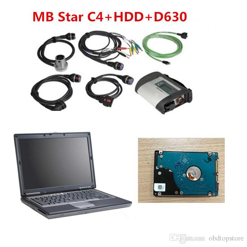 D630 laptop + 2020 / 06V Melhor Ferramenta de diagnóstico MB ESTRELA C4 SD CONNECT WIFI SD C4 Apoio 21 Idiomas MB Diagnose SD C4 grátis DHL