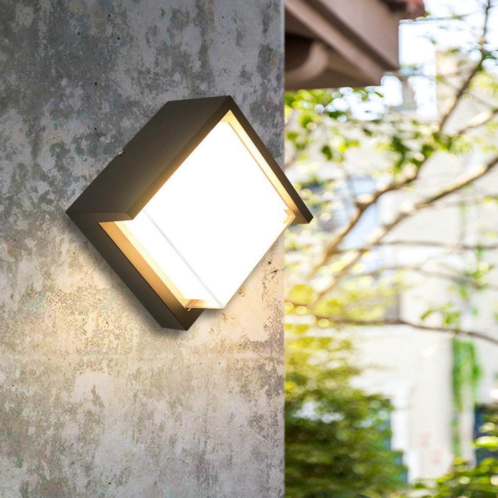 220v 110v Up Down Lâmpada de parede Iluminação Luz IP44 Led exterior Exterior impermeável para fora Porch Portão Varanda Veranda