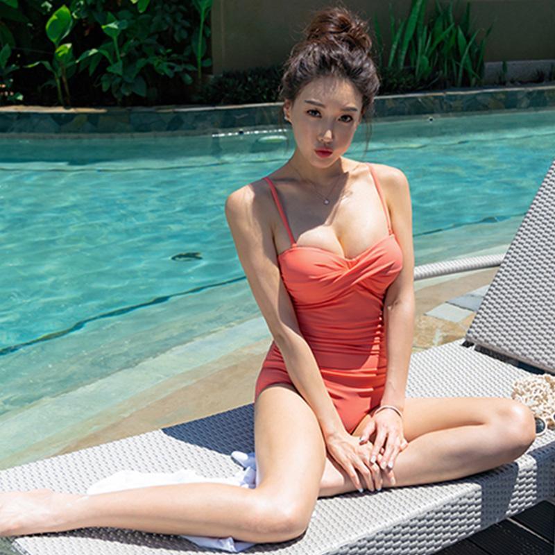 Lady rima sexy biquíni 2020 Puxe uma peça maiô feminino de cordas monokini amarelo mulheres banho de uma peça ternos maiô