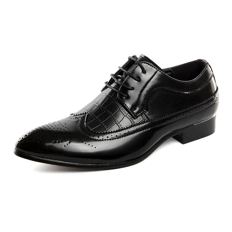 Men Dress Shoes for Formal Business Office Wedding Leather Men Shoes Italian Designer Men's Oxfords Plus Size Flats 38-48