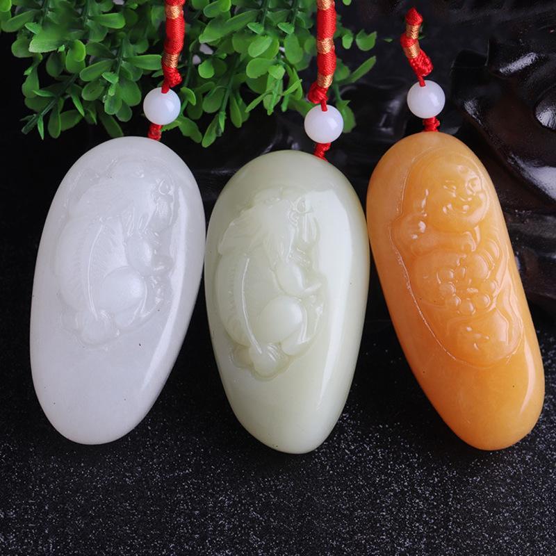 HXC Doğal mil Huang yu Sheng Xiao long grip bölümü ejderha ve anka parmak parçaları fu han yu efsanevi vahşi hayvan Buda