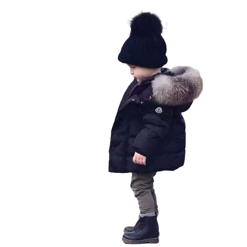Children Winter Jackets 2019 Autumn Winter Kids Girls Boys Down Parkas Fur Hooded Outwear for Baby Christmas Clothing
