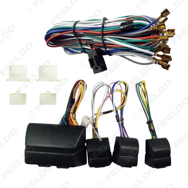 Leewa 1set Universal Car Poder Janela 8Pcs Switches Com titular e Fio SKU #: 2469