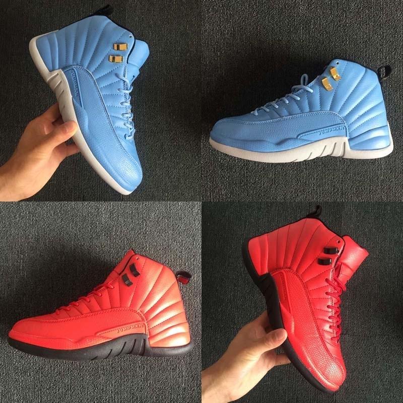 Nueva llegada Xii 12 zapatos de Carolina del Norte baloncesto de los deportes de trigo de gamuza para alta 12s mujeres de calidad para hombre de moda zapatillas de atletismo de Estados Unidos 7-13