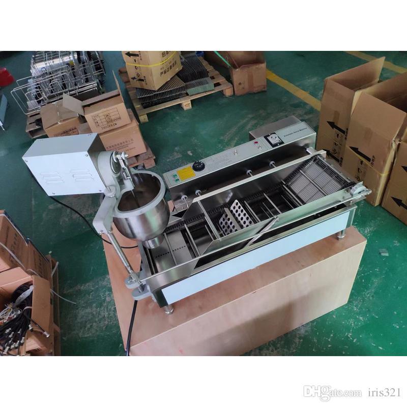 دونات صانع التجارية التلقائي آلة دونات صانع المقلاة الفولاذ المقاوم للصدأ دونات ماكينة