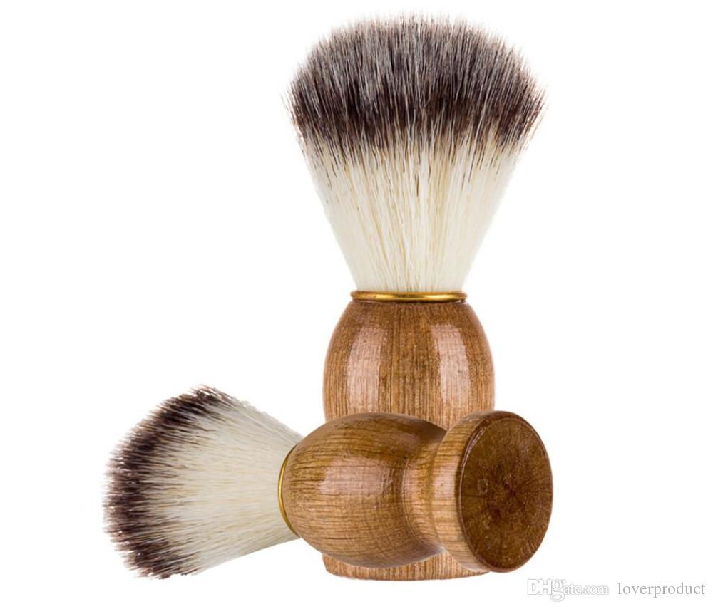 Blaireau Hot Hair Hair Men Barber Salon Hommes Facial Barbe Nettoyage Appareil de Haute Qualité Pro Rasage Outil Rasoir Brosses
