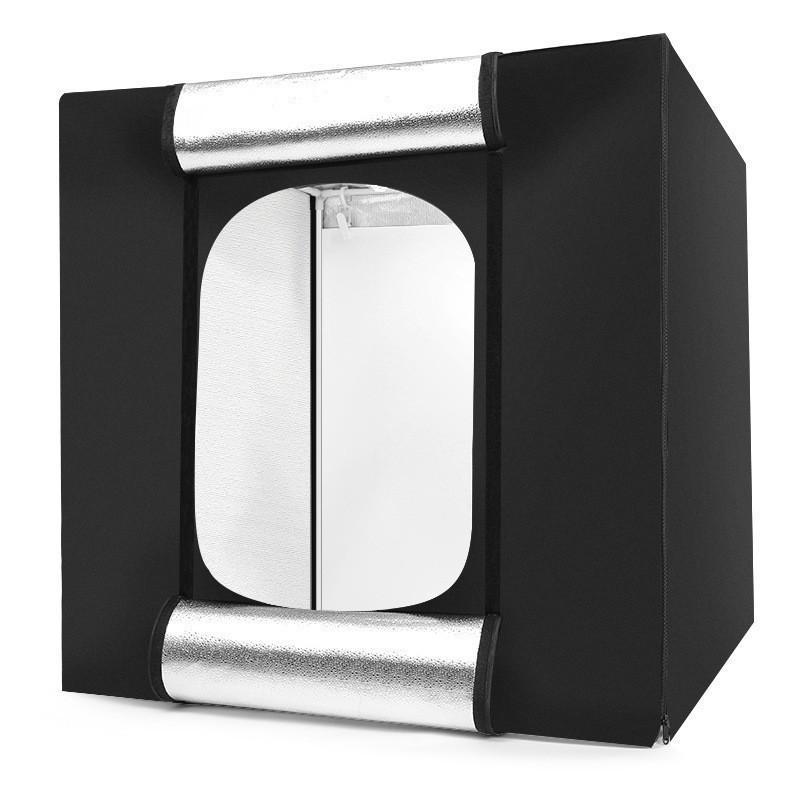Tycipy 80 * 80 * 80cm Profesional plegable estudio de la cámara de fotos Caja de luz para la fotografía mesa de tiro, enmarcados Accesorios