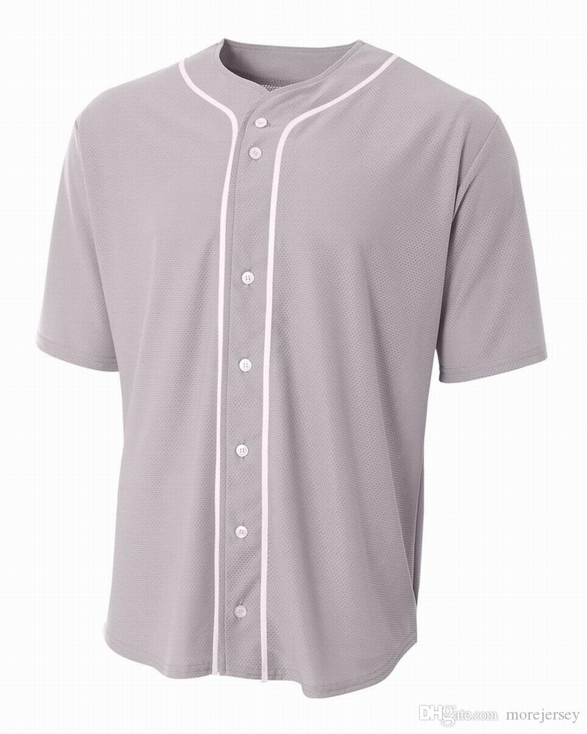 56434 personnalisé baseball jersey blanc boutonné Pull homme taille femme S-3XL