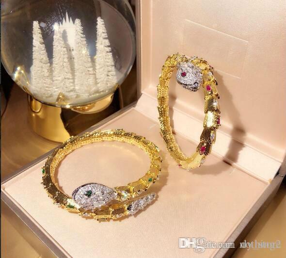 Bracelet or luxe Bracelets serpent pour femmes luxe Bijoux anniversaire Valentine Nouvel An designer de bijoux cadeau