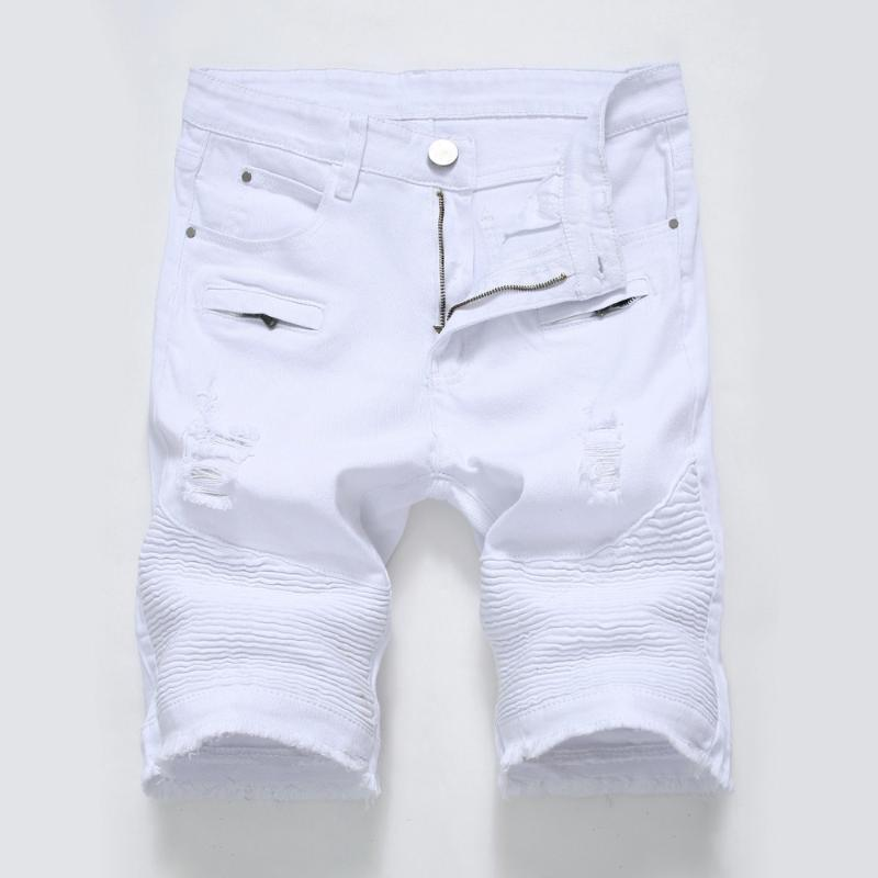 Nouveau été de haute couture Hip hop rue jean mâle court doux et confortable short trou jean