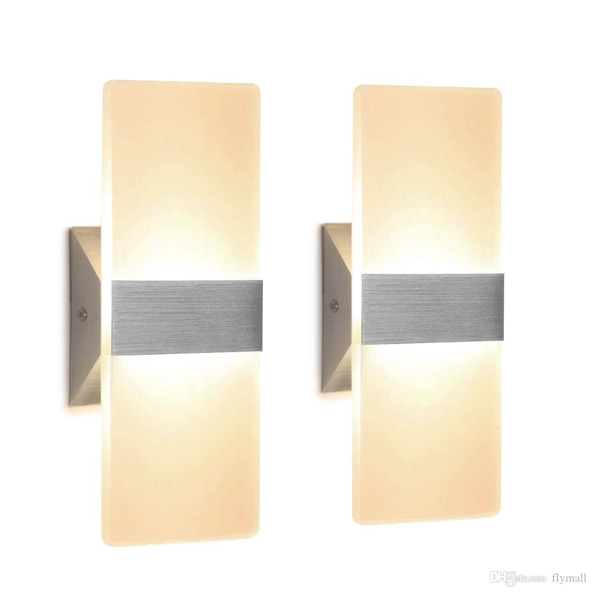 Image of: 2020 Modern Wall Sconce 12w Up Down Wall Lamp Acrylic Wall Mounted Lights For Bedroom Corridor Stairs Bathroom Indoor Lighting Fixture Lamps From Flymall 16 75 Dhgate Com