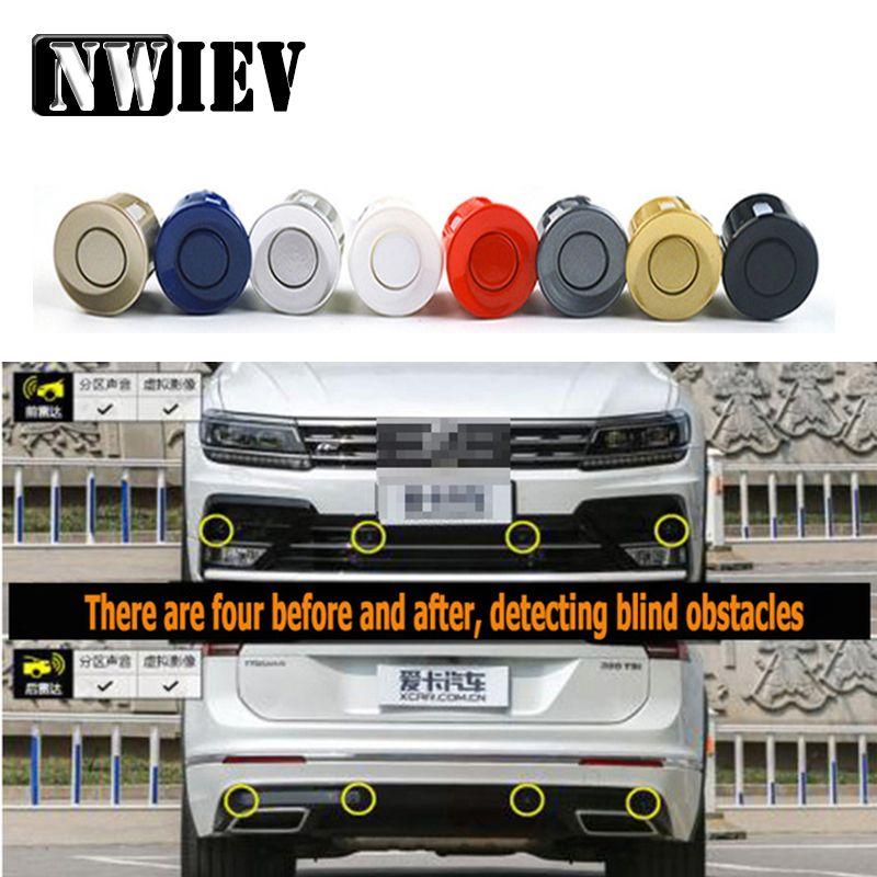 NWIEV 4pc sensore di parcheggio del monitor dell'inseguitore retromarcia Probe Per Solaris I30 Tucson Astra H G J E90 Accessori