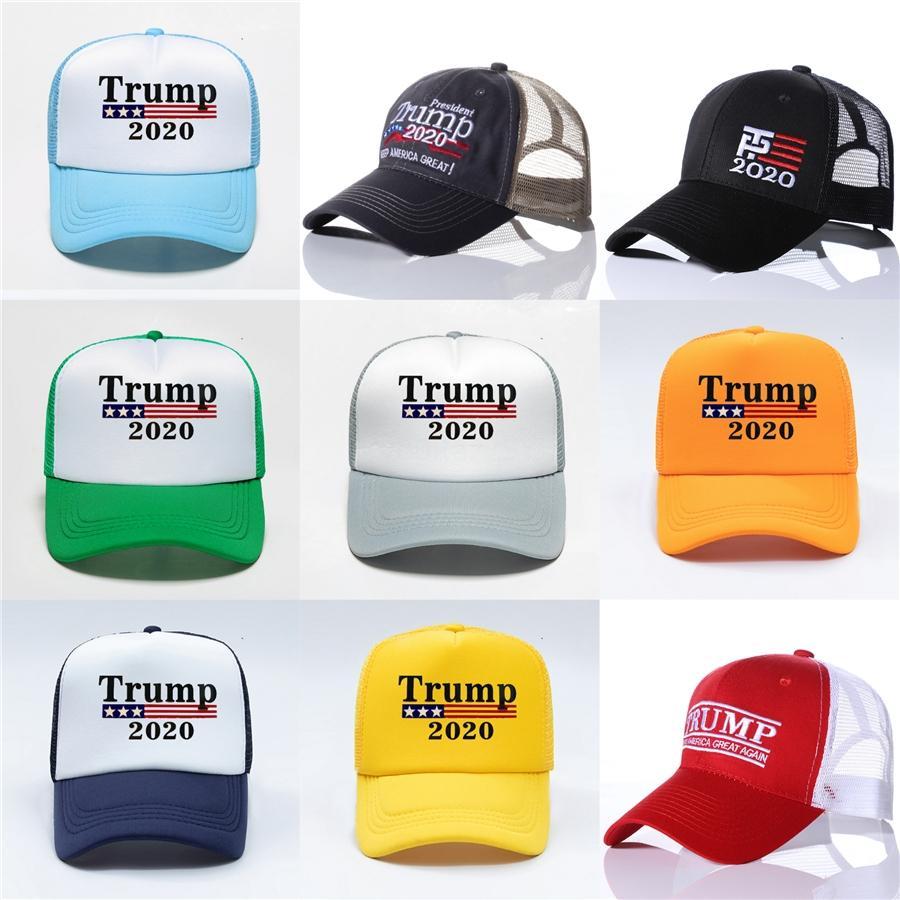 Il nuovo cappello Trump 2020 americano Elezioni presidenziali Lettera ricamo Berretto da baseball mantenere l'America Grandi cappelli 5 colori Hha1299 # 677