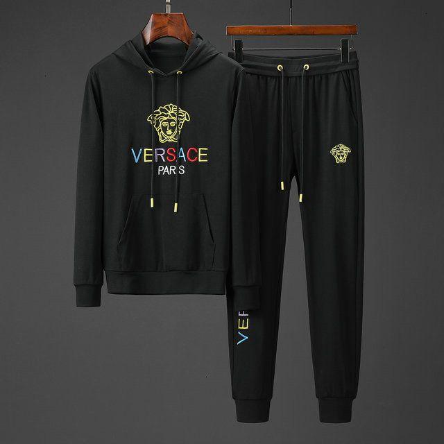 2019 hommes Vêtements de sport à capuche Sweat Noir Jogger Automne Hiver Mens Costume sport Survêtement Hommes Survêtements