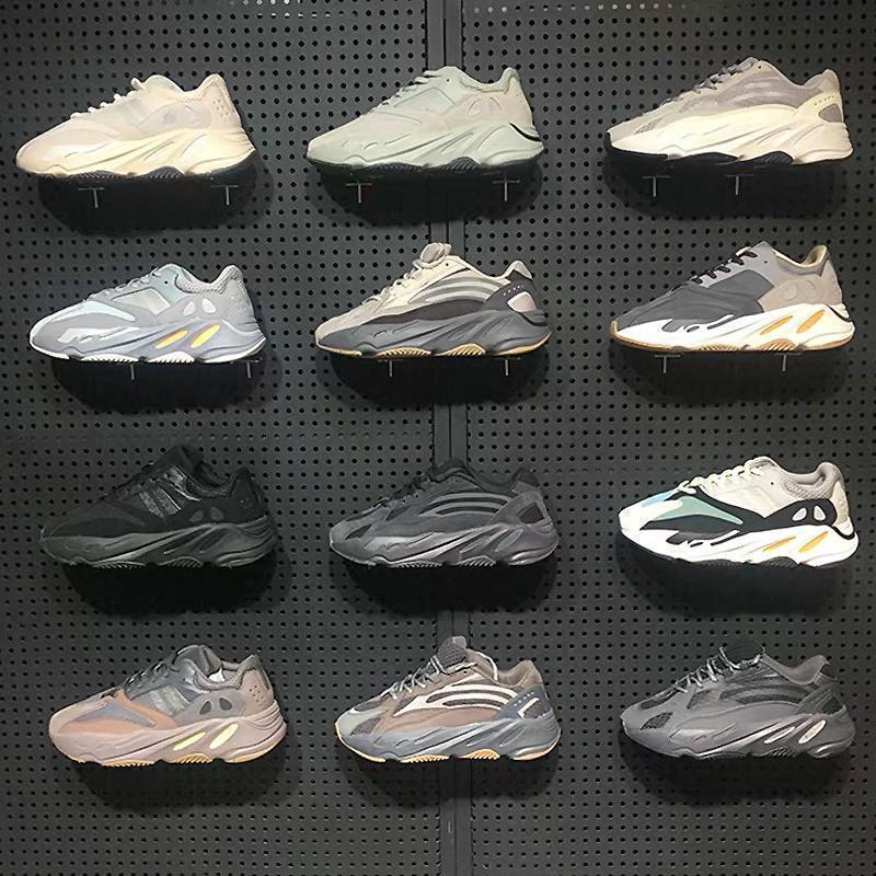 2020 de alta calidad de Kanye West 700 3M reflectante extranjero Runner triples blancas Negro arcilla beluga para hombre zapatos para correr diseñador de las mujeres zapatillas de deporte T1fbe #