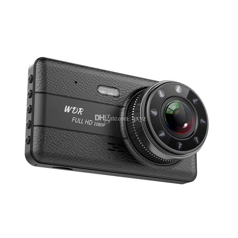 4 inches car DVR digital dash camera vehicle drive recorder 2 channels front 170° rear 120° wide view angle full HD 1080P