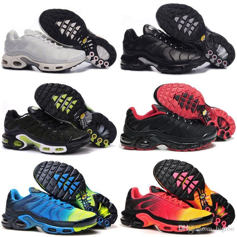 2019 Newert Hommes Chaussures de course TN Chaussures Hommes PLUS TXT TN chaussures Black Lace Sneakers Taille US 7-12