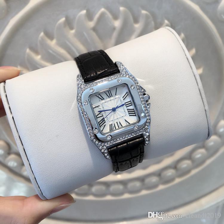Высочайшее качество хорошая модель Мода леди специальные часы из натуральной кожи причинные женские часы Diamond Wristwatches Роскошные женские часы дропшиппинг