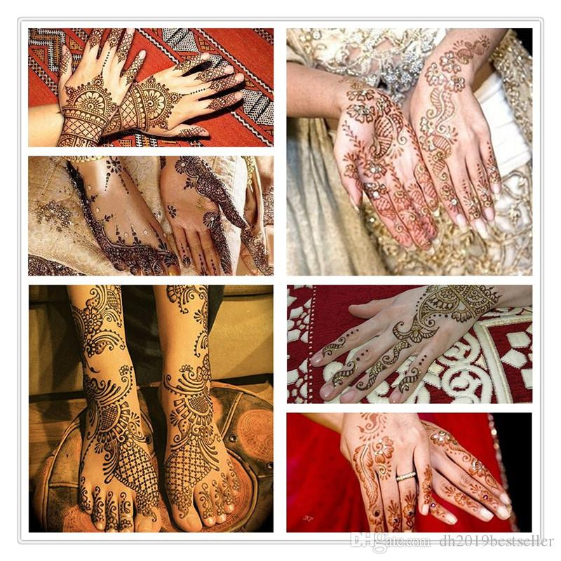 Arrivals Natural Indian Henna Tattoo Art Paste Temporary Tattoo Wedding Dress Makeup Tools DIY Temporary Drawing Body Art