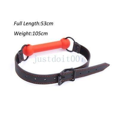 Silikon Zurückhaltung weich # R65 Harness Bone Dog Haustier Spielzeug Gag Stick Slave Stecker Biss Mund Xmnod
