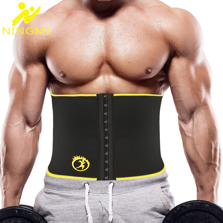 NINGMI Sauna Waist Trainer for Women Adjustable Neoprene Waist Trimmer Sweat Belt Fat Burning