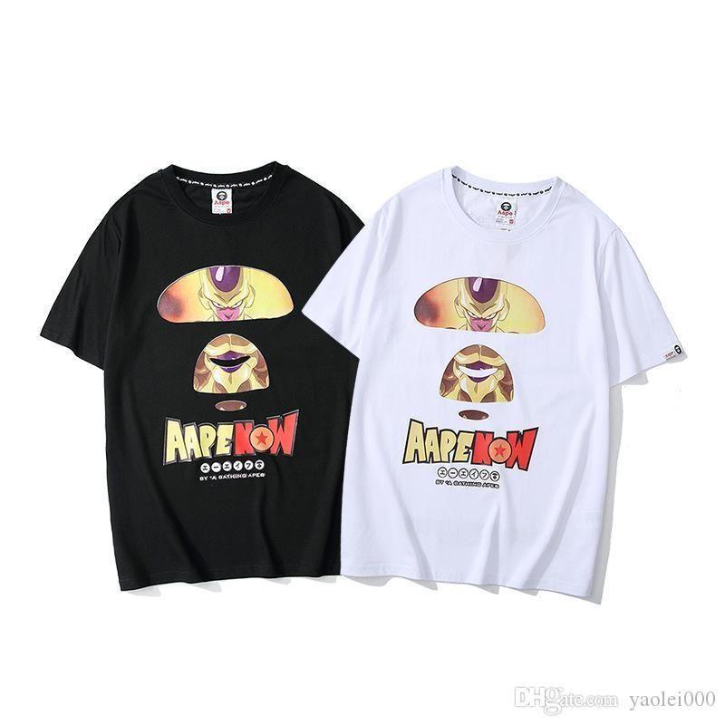 Lusso T Shirt Designer uomo manica corta Nuovo caldo di marea di marca ampio tempo libero Dragon Ball Wukong Stampa Stampa Hip Hop Coppia mezza manica