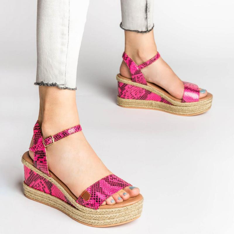 Cunhas sapatos para as mulheres Sandals Dropship sapatos de salto alto verão 2020 Flop Chaussures Femme Platform Sandals New Fashion # g2