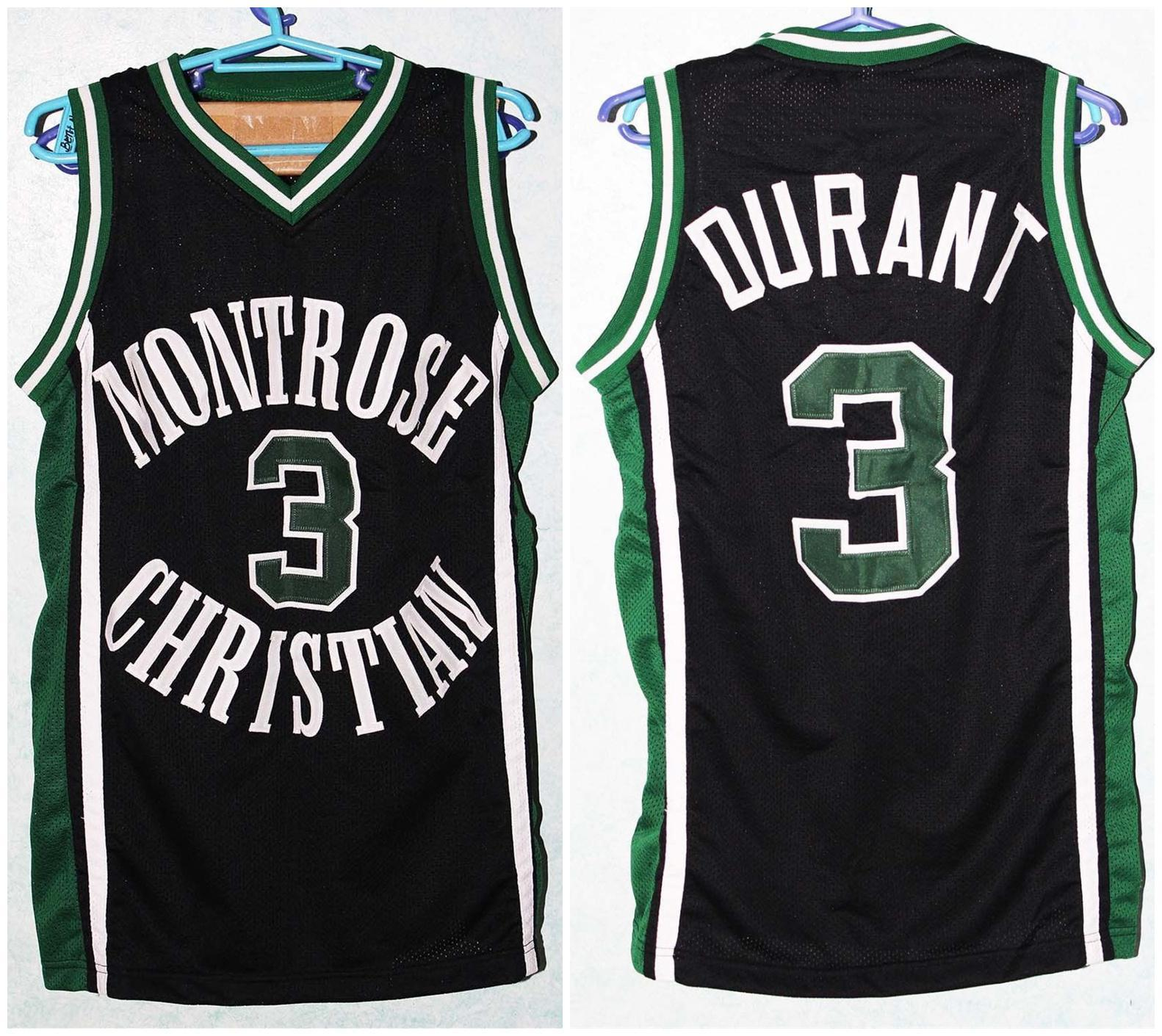 # 3 kevin durant montrose christian high school retro klassische basketball jersey mens genäht benutzerdefinierte nummer und name trikots