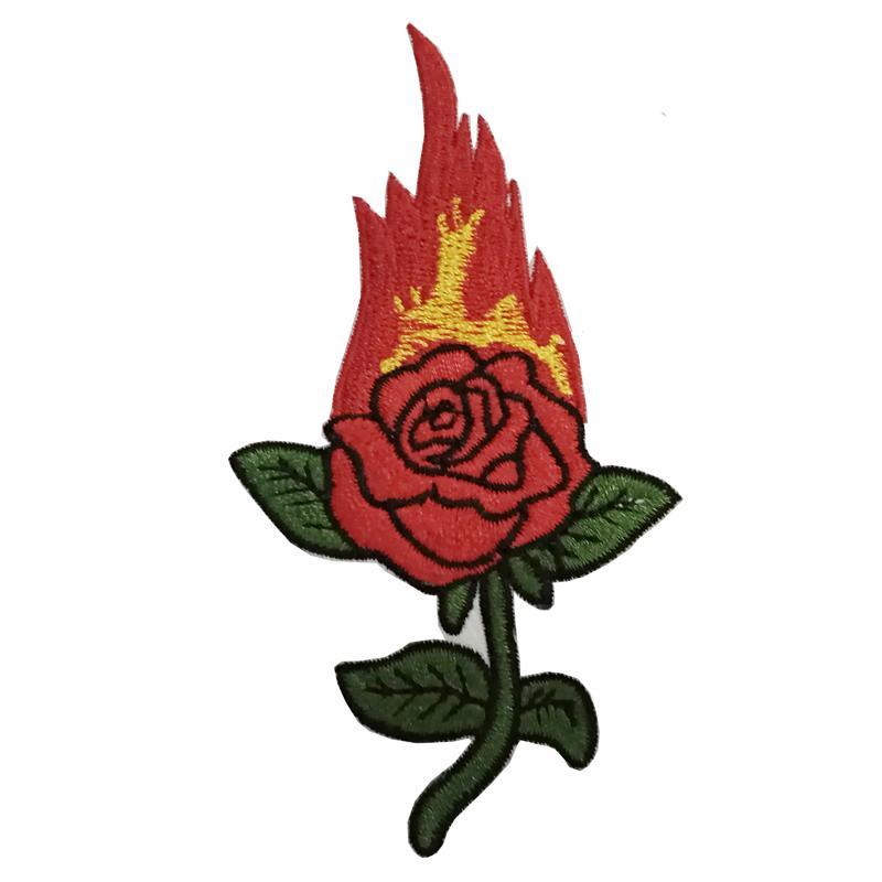 delicadas rosas chama bonitas ou roupas jaqueta de bordados de costura suprimentos DIY acessórios roupas de patch